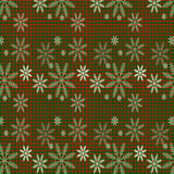 Christmas background with snow. Checkered background for Christmas card Stock Image