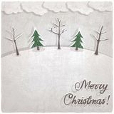 Christmas background with snow-covered trees Stock Photos