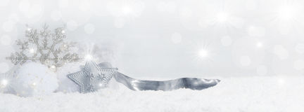 Christmas background with snow crystals Royalty Free Stock Photography