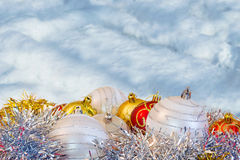 Christmas background with snow Stock Photography