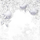 Christmas background with snow decorations Royalty Free Stock Image