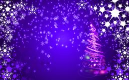 Christmas background with snow flakes Royalty Free Stock Photo