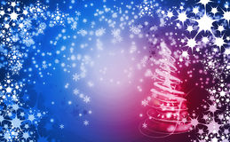 Christmas background with snow flakes Royalty Free Stock Photos