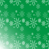 Christmas background with snow. Green background for Christmas card Stock Image