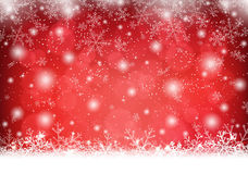 Christmas background with snow and snowflakes Royalty Free Stock Photos
