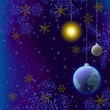 Christmas background, snow in space Royalty Free Stock Images