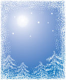 Christmas background with a snow, vector Stock Photo
