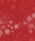 Christmas background with snow Royalty Free Stock Photo