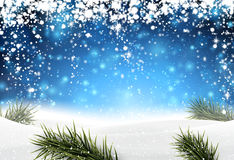 Christmas background with snow. Royalty Free Stock Images