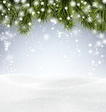Christmas background with snow. Royalty Free Stock Photos