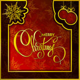 Christmas background with snow wood texture. Vector illustration. Winter banner Royalty Free Stock Images