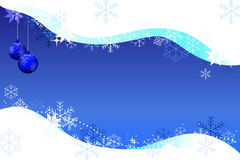 Christmas background snowdrift and balls Stock Photography