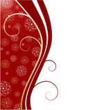 Christmas background with snowflake Stock Images