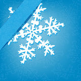 Christmas background with snowflake Stock Photos