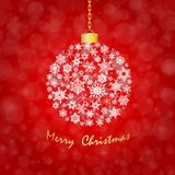 Red tone Christmas background Stock Image