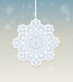 Christmas background with snowflake Royalty Free Stock Photography