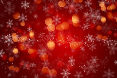 Christmas background with snowflake design and bokeh lights Stock Photo