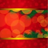 Christmas background with snowflake fir tree Royalty Free Stock Photo
