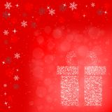 Red tone Christmas background Royalty Free Stock Photo