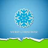 Christmas background with snowflake Stock Photography
