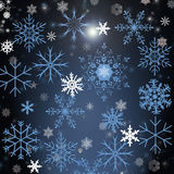 Christmas background with snowflakers Stock Images
