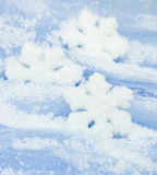 Christmas background / with snowflakes Royalty Free Stock Images