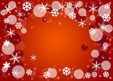 Christmas  Background with snowflakes. Bright background with snowflakes as a Christmas symbol Stock Photo