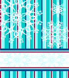 Christmas background with the snowflakes Royalty Free Stock Photography