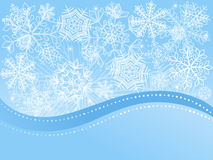 Christmas background with snowflakes. Stock Photos