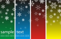Christmas background with snowflakes Stock Image