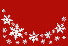 Christmas background with snowflakes. With room for your text Royalty Free Stock Photography