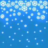 Christmas background with snowflakes 3d Royalty Free Stock Image