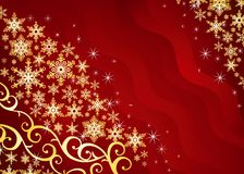 Christmas background / with snowflakes Stock Photography