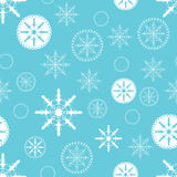 Christmas background with snowflakes. Abstract Christmas background with hand drawn snowflake. Vector illustration for new year design. Seamless pattern with Royalty Free Stock Photos