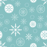 Christmas background with snowflakes. Abstract Christmas background with hand drawn snowflake. Vector illustration for new year design. Seamless pattern with Royalty Free Stock Photo