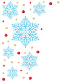 Christmas background with snowflakes and beads Stock Images