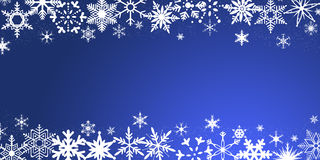 Christmas background with snowflakes. Blue Christmas background with snowflakes vector illustration