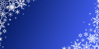 Christmas background with snowflakes. Blue Christmas background with snowflakes royalty free illustration