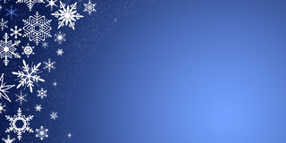 Christmas background with snowflakes. Blue Christmas background with snowflakes stock illustration