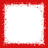 Christmas background with snowflakes border Stock Photography