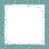 Christmas background with snowflakes border Royalty Free Stock Photography