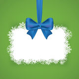 Christmas background with snowflakes and bow. Banner snowflake. Place for your text vector illustration