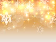 Christmas background with snowflakes. Winter vector  illustration Royalty Free Stock Photography