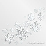 Christmas background with snowflakes Royalty Free Stock Photo
