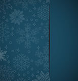 Christmas  background with snowflakes elements for holiday cards. Vertical banner on a background with snowflakes, elements for holiday cards. Christmas Royalty Free Stock Photo