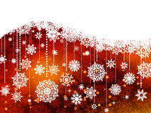 Christmas background with snowflakes. EPS 8 Stock Image