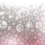 Christmas background with snowflakes. EPS 8 Stock Images