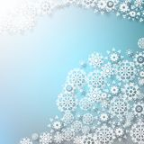 Christmas background with snowflakes. EPS 10. Abstract Christmas background with snowflakes. EPS 10 Stock Image