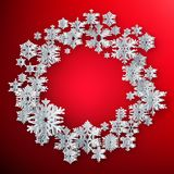 Christmas background with snowflakes. EPS 10 vector illustration
