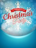 Christmas background and snowflakes. EPS 10 Stock Images